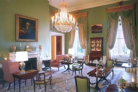 ديكور منزل اوباما (رئيس امريكا) Chambre-verte-430389