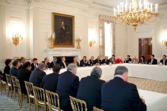ديكور منزل اوباما (رئيس امريكا) Salle-a-manger-430552