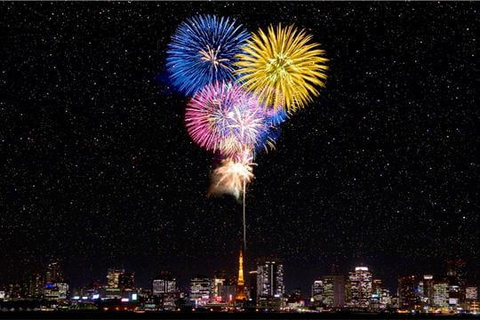 HighTech : Télécharger fonds ecran HD Fond-ecran-feu-artifice-nuit-tokyo-881988