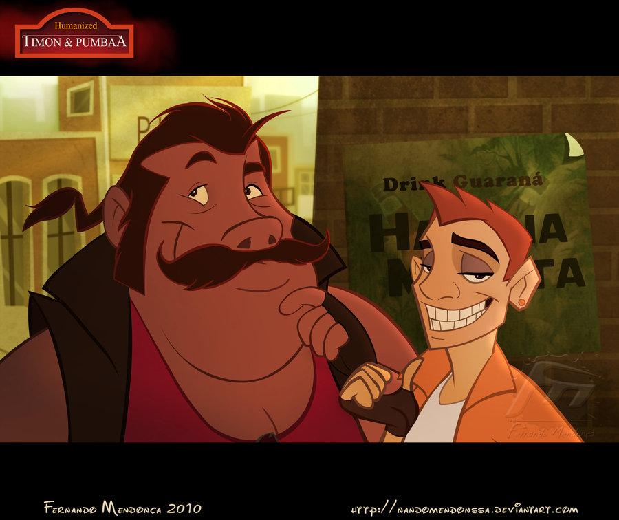 tlk humanos (anime) Humanized_Timon_and_Pumbaa