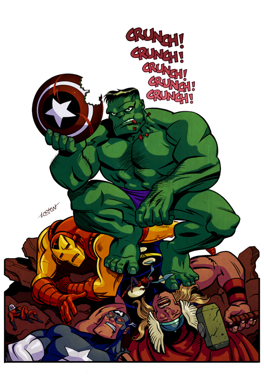 Marvel Cinematic Universe: The Avengers y más. - Página 5 Hulk_Colors_by_LostonWallace