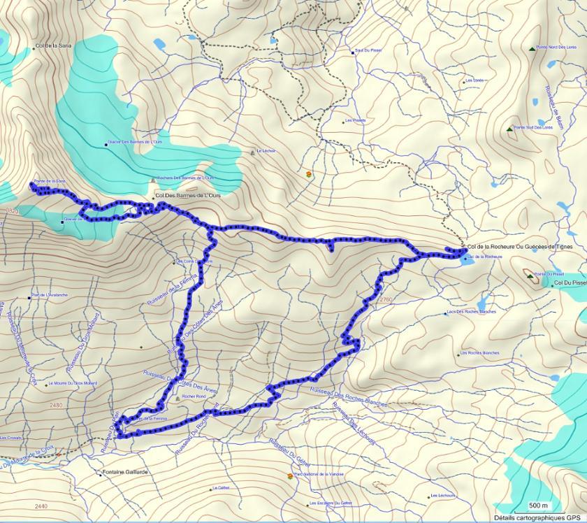 Quatre jours en Vanoise (introduction) Parcours_j2-bordure