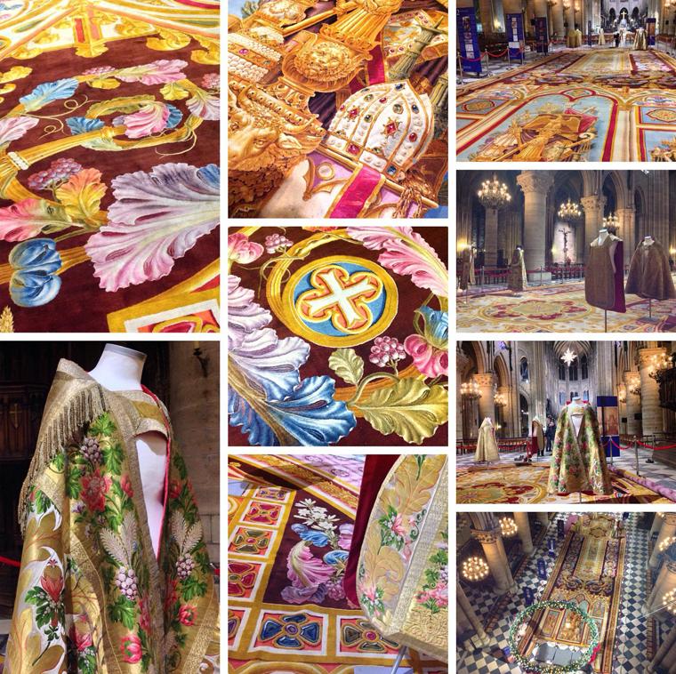 Notre-Dame de Paris. Exposition « Tapis du choeur » Tapis-du-choeur