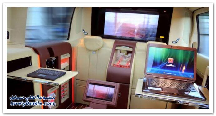 صور: تصميم رائع لمكتب داخل سيارة مرسيدس بنز BrabusMercedes-04