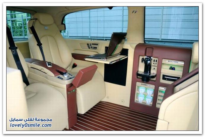 صور: تصميم رائع لمكتب داخل سيارة مرسيدس بنز BrabusMercedes-08
