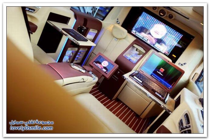 صور: تصميم رائع لمكتب داخل سيارة مرسيدس بنز BrabusMercedes-11