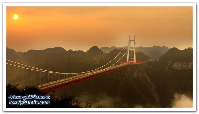 افتتاح أعلى جسر معلق في العالم بالصين  Opening-of-the-highest-suspension-bridge-in-China-01