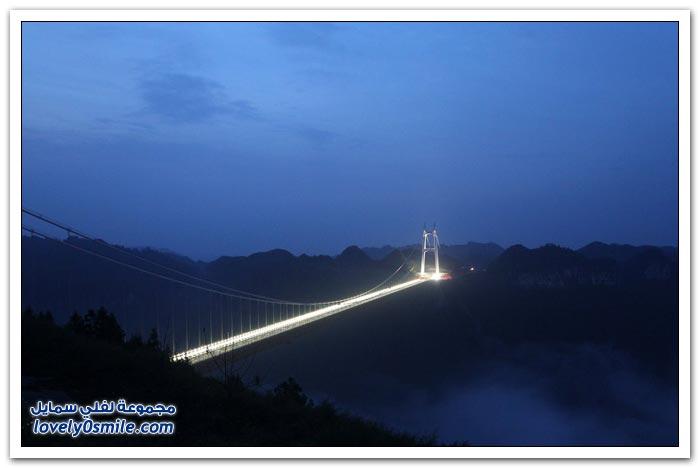 افتتاح أعلى جسر معلق في العالم بالصين  Opening-of-the-highest-suspension-bridge-in-China-02