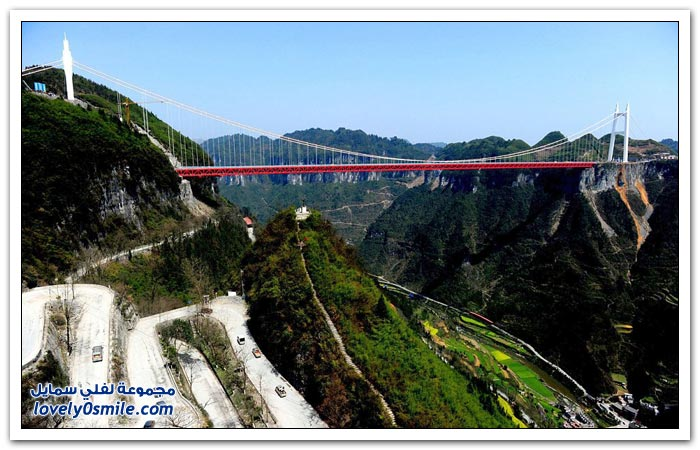افتتاح أعلى جسر معلق في العالم بالصين  Opening-of-the-highest-suspension-bridge-in-China-03