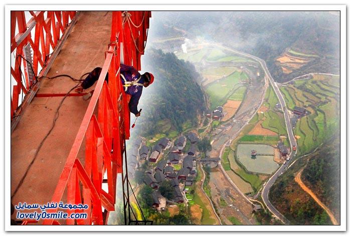 افتتاح أعلى جسر معلق في العالم بالصين  Opening-of-the-highest-suspension-bridge-in-China-04