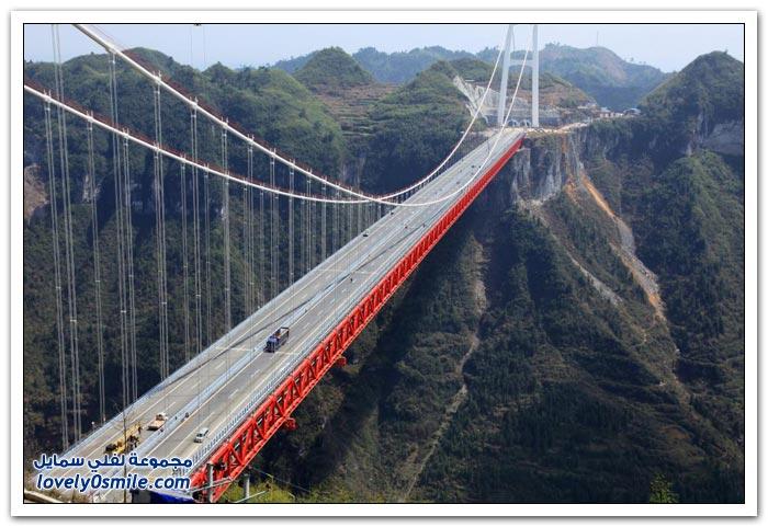 افتتاح أعلى جسر معلق في العالم بالصين  Opening-of-the-highest-suspension-bridge-in-China-07