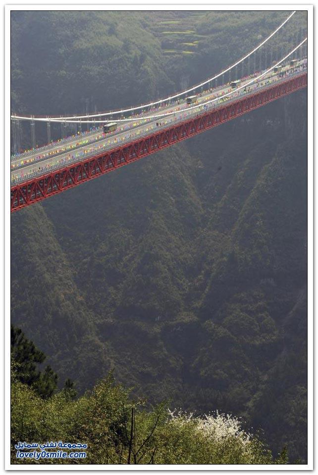 افتتاح أعلى جسر معلق في العالم بالصين  Opening-of-the-highest-suspension-bridge-in-China-08