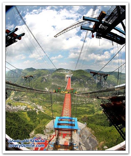 افتتاح أعلى جسر معلق في العالم بالصين  Opening-of-the-highest-suspension-bridge-in-China-09