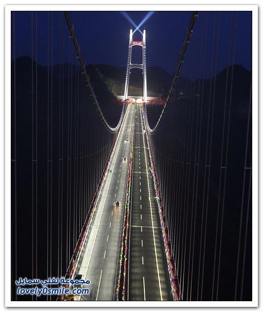 افتتاح أعلى جسر معلق في العالم بالصين  Opening-of-the-highest-suspension-bridge-in-China-10