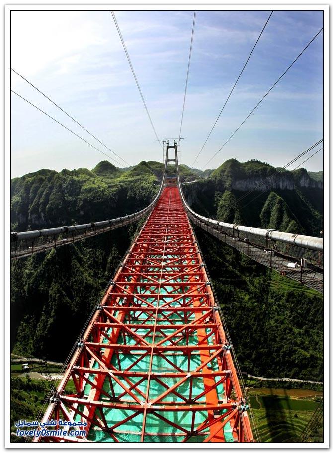 افتتاح أعلى جسر معلق في العالم بالصين  Opening-of-the-highest-suspension-bridge-in-China-11