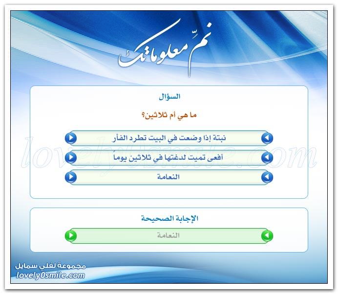 نم معلوماتك -سؤال وجواب Urinfo-04305