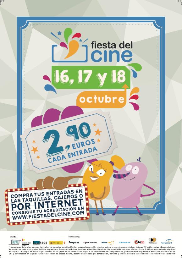¡La Fiesta del Cine 2017 esta de vuelta! El próximo lunes 16, martes 17 y miércoles 18 de octubre Fiesta-del-cine-octubre-2017-valencia