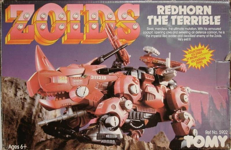 Séquence émotion : jeux éducatifs vintage Zoids---redhorn-the-terrible---loose-with-box-p-image-252801-grande