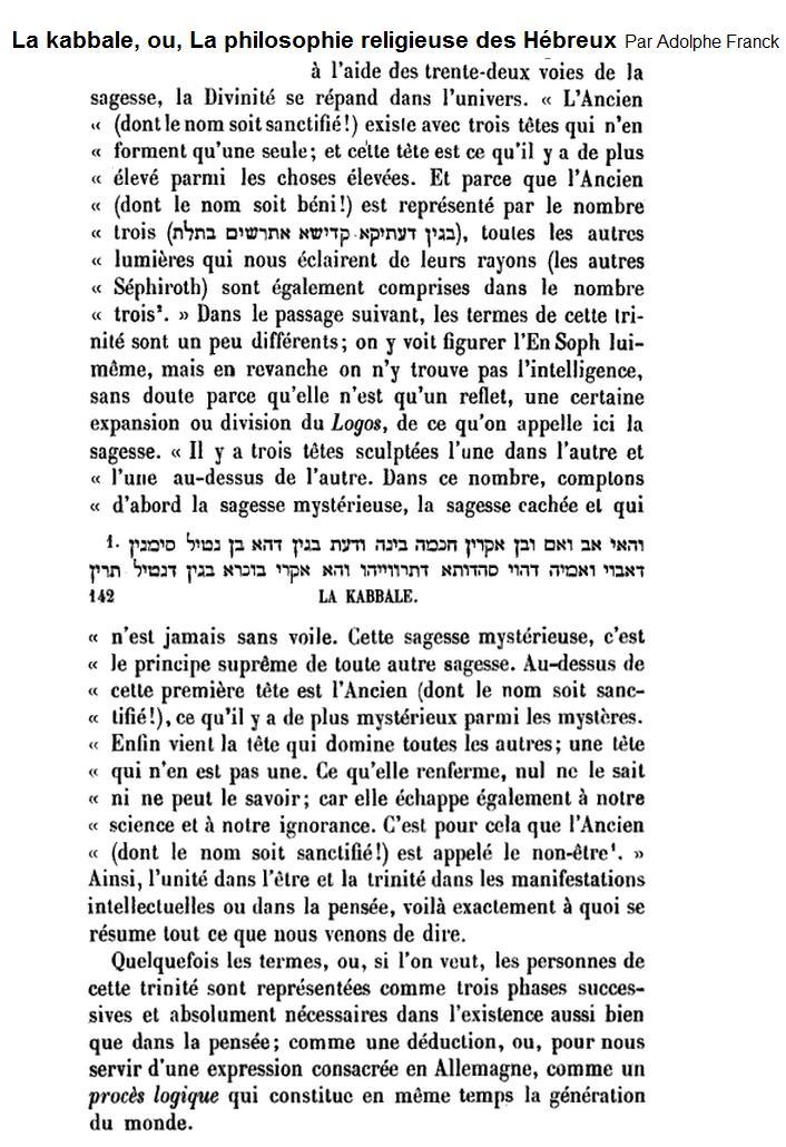 Le chevalier Drach et la démonstration de la vérité du christianisme  Kabbaletrinitee