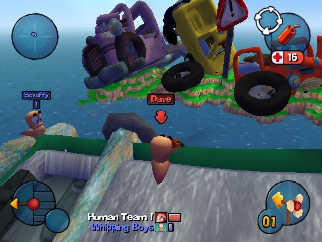 جميع إصدرات اللعبة الشهيره WORMS Worms3d002