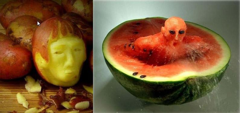 De l'Art ou du cochon..... - Page 6 Sculpture-legumes