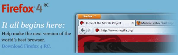 ¿Cual navegador elegir? Mi opinión... Firefoxrc1-600x188