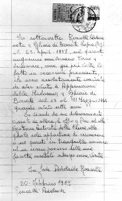 L'histoire de Bonate : Epilogue de FATIMA Fotoc