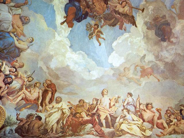 Madrid de los Borbones (I): El Palacio Real Antecamara_Gasparini_Techo