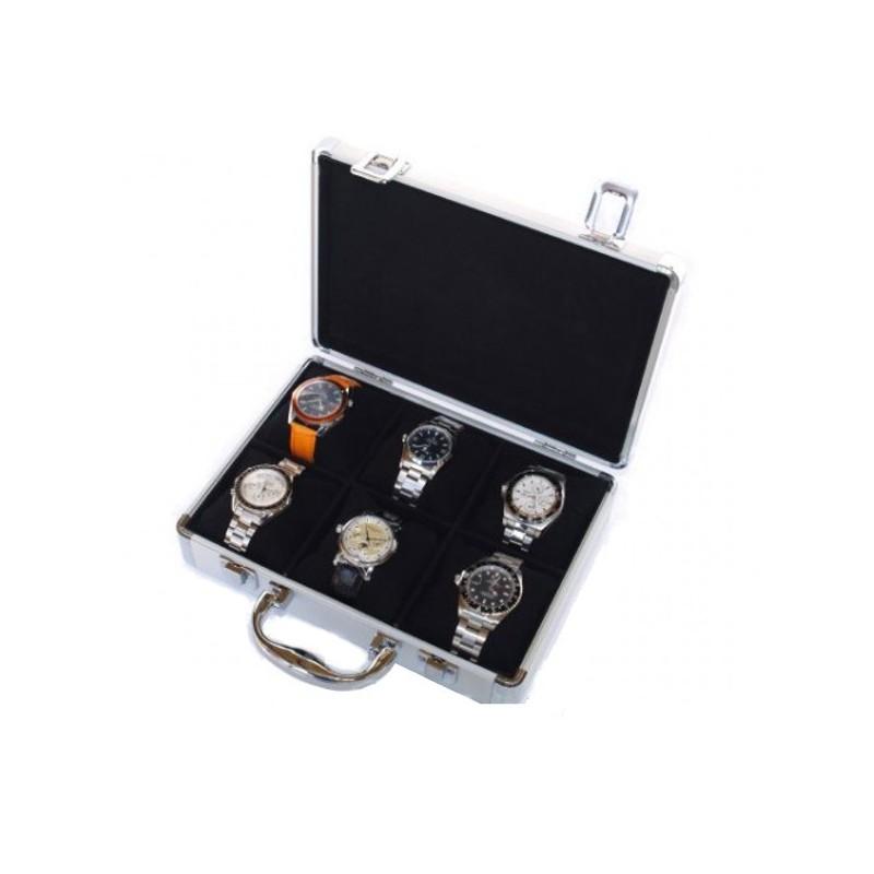 Cajas de relojes Vitrina-guarda-6-relojes-en-aluminio