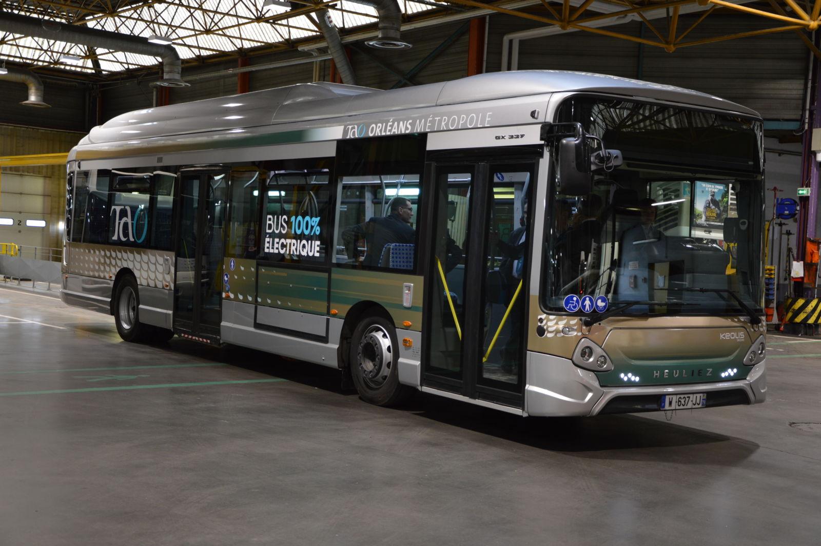 Orléans, première ville française à passer aux bus 100% électriques ! Par Joseph de Carme  Bus-elec