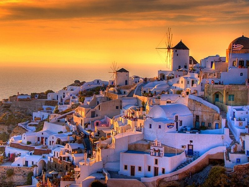 Jeftina letovanja  Santorini-sunset