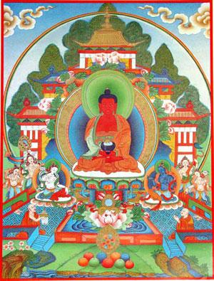 Bouddha Amitābha Pos-amitabha