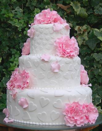 كيك أعراس...روعة Heartsandflowersweddingcake