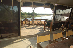Galana Ranch - Shoroa Tented Camp Shoroa%20veranda
