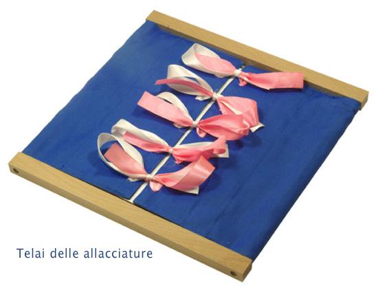 LA DIDATTICA della MONTESSORI (materiali fai da te) Telai-allacciature