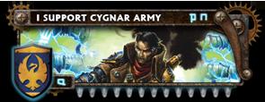 BANNER Warmahordes BannerMKII_cygnar_caine