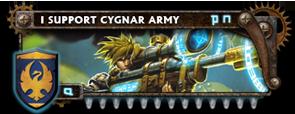 BANNER Warmahordes BannerMKII_cygnar_sloan