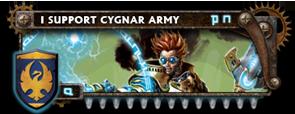 BANNER Warmahordes BannerMKII_cygnar_stryker