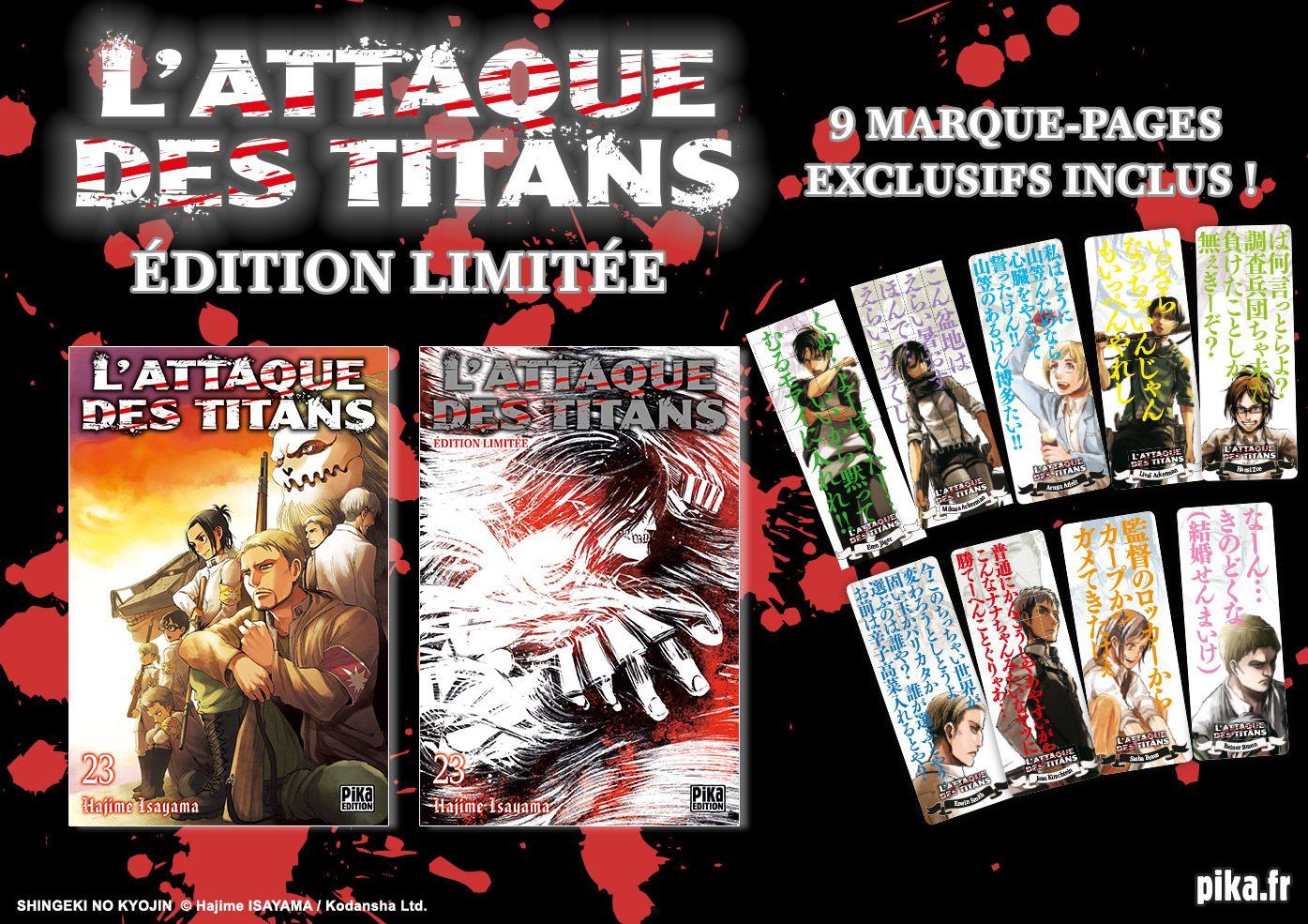 [MANGA/ANIME] L'Attaque des Titans (Shingeki no Kyôjin) - Page 21 Attaque-titans-23-limite-pika-annonce