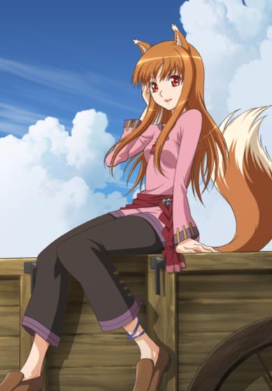[ANIME/MANGA/LN] Spice and Wolf (Ookami to Koushinryou) - Page 2 Spice-_-wolf-anime-docomo