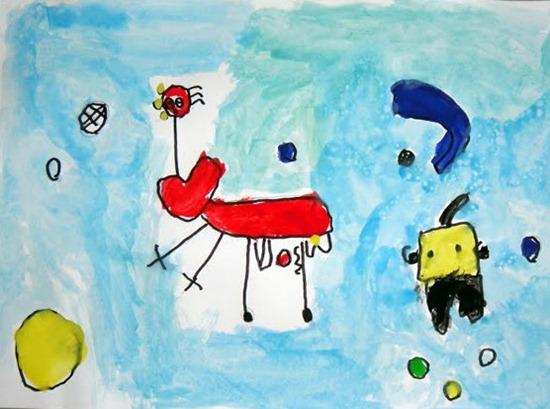 Pintores famoso o no Pintar-como-joan-miro-1