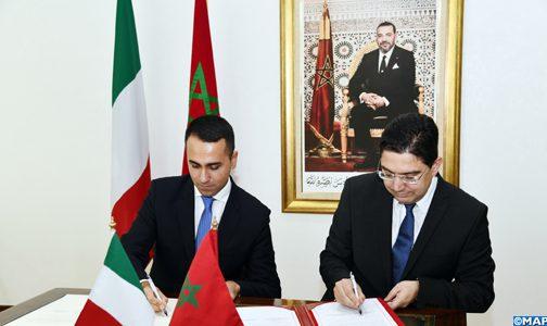 Diplomatie marocaine - Relations internationales - Page 24 Signature-Convention-Maroc-Italie-M2-504x300-504x300