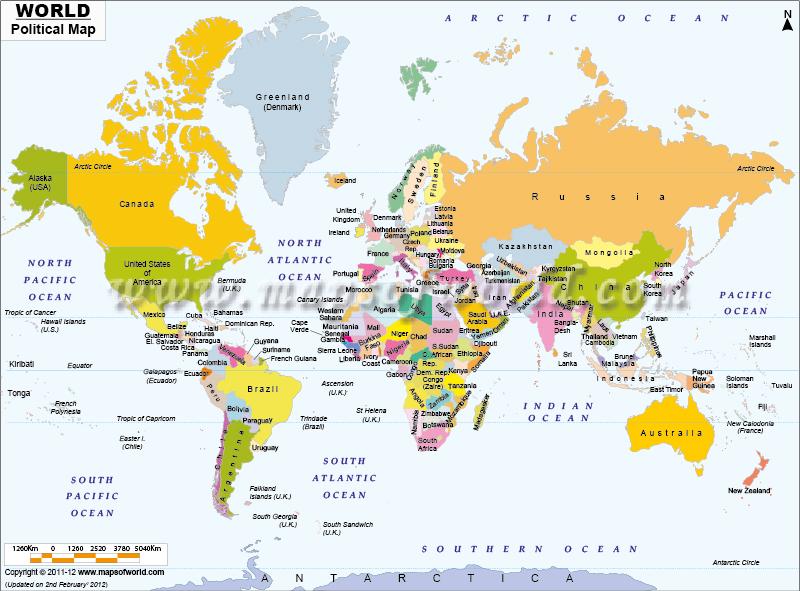 خريطة العالم بجودة عالية جدا