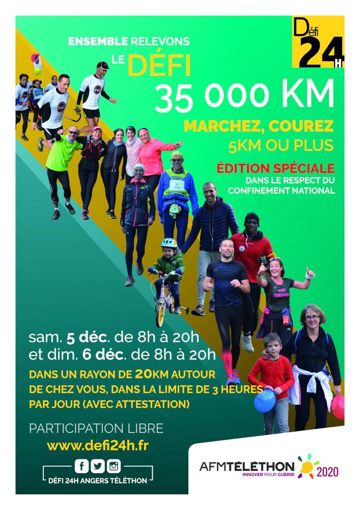 Alain Grassi « El Gino » Parrain du Téléthon Angers 2020 Affiche-2020
