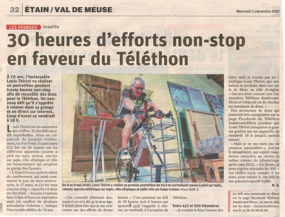 Louis Thiriot son 30ème défi  pour AFM TELETHON Article-LT-2-12-20