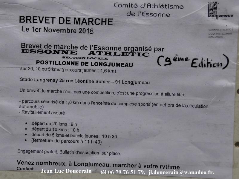 1-11-2018  Longjumeau  Brevets de marche DSC-7589
