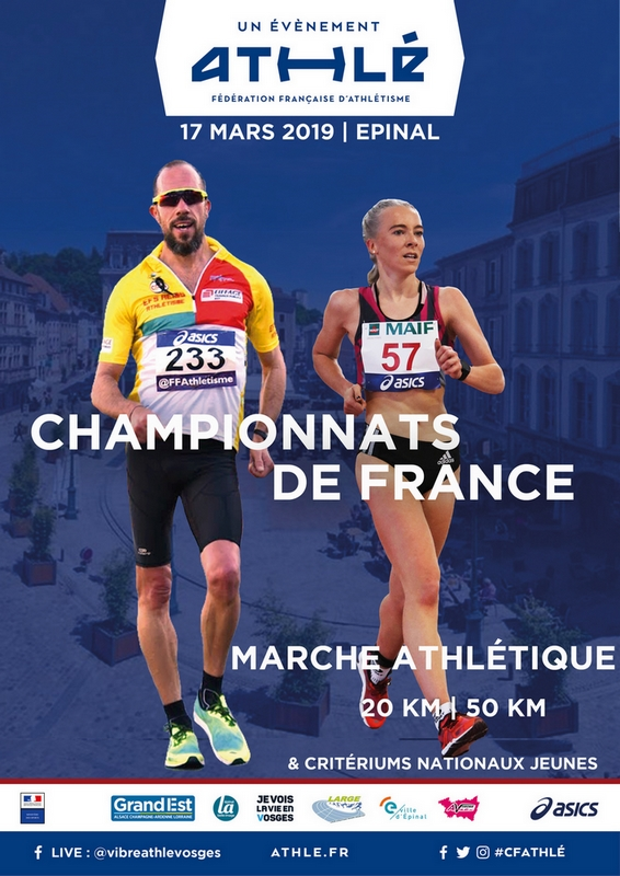 Championnats de France des 20 km et 50km Affiche-france-de-marche-epinal-2019