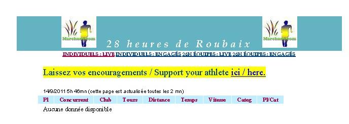 28 heures de ROUBAIX 17 et 18 Septembre 2011 Page%20du%20direct