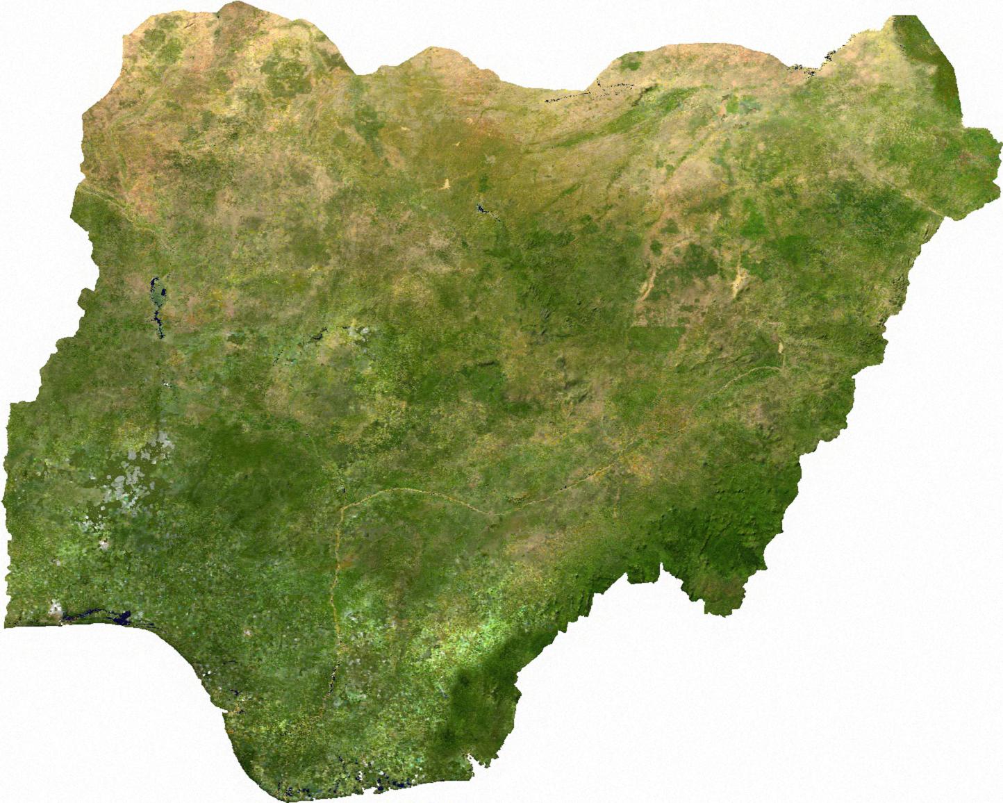 خرائط دولة نيجيريا Nigeria_sat
