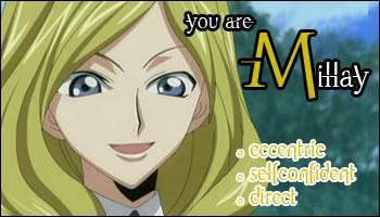 TEST: ¿Que personaje de Code Geass eres? Millay